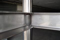Construction en acier chromé